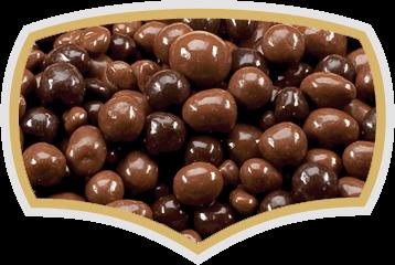 Chocolate coated dragees, choco balls, choco nuts. Gama Food