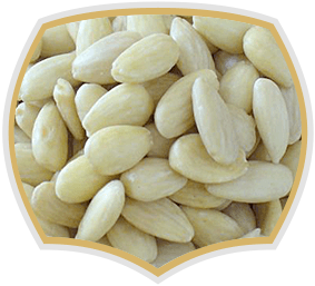 Бланширани бадеми, сладкарски суровини на едро. Gama Food
