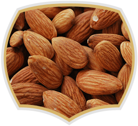 Almonds, raw nuts. Gama Food