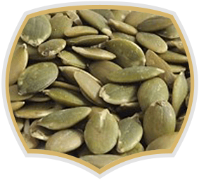 Pumpkin seeds, raw nuts. Gama Food
