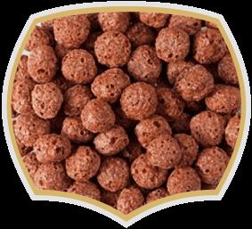 Kорнфлейкс шоколадови топчета. Зърнена закуска Gama Food