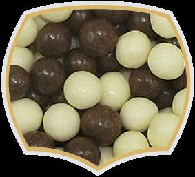 Шоко криспи, бели и черни шоко топчета. Gama Food