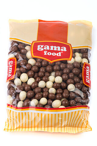 Choco-crispy black and white 300 gr, Gama Food
