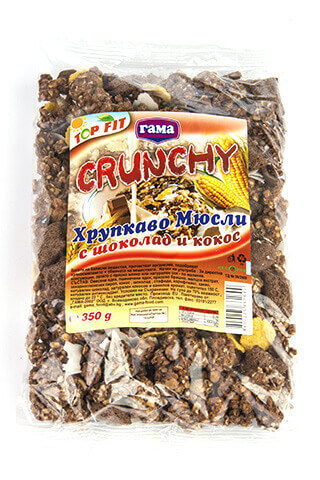 Gama Food Chocolate crunchy with coconut chips 350 gr
