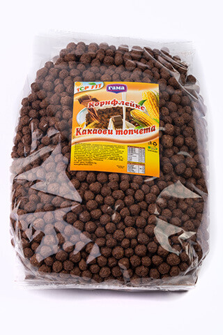 Корнфлейкс шоколадови топчета 500 гр., Gama Food