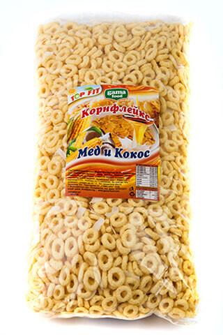 Корнфлейкс медени пръстенчета 500 гр., Gama Food