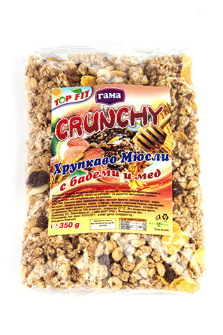 Gama Food Honey crunchy with almonds 350 gr