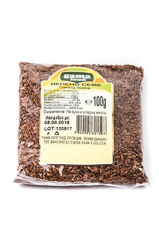 Gama Food Leen seeds 100 gr, packaged