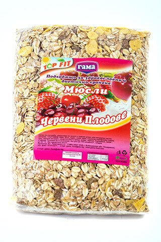 Gama Food Muesli with red fruits 450 gr
