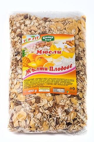 Мюсли с жълти плодове 450 гр., Gama Food