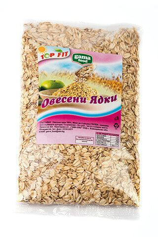 Gama Food Oat flakes thin in packages of 170 gr and 450 gr