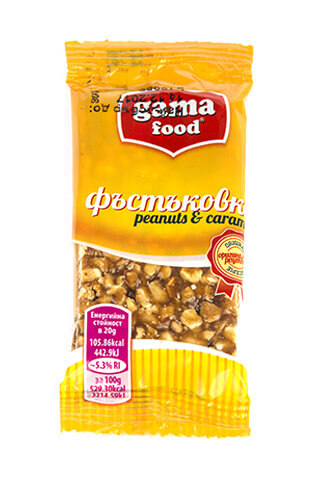 Peanut caramel Bar 20 gr, Gama food