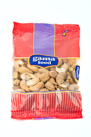 Gama Food Roasted cashew 80 gr and 100 gr packages