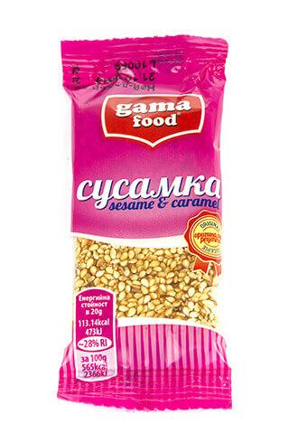 Sesame caramel bar 20gr, Gama Food